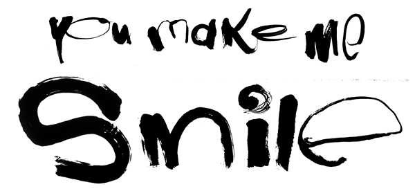 笑顔の写真展「you make me smile」(大丸京都店) 揮毫
